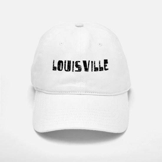 Louisville Faded (Black) Baseball Baseball Cap