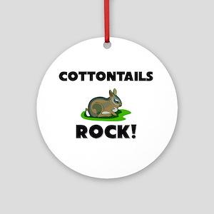 Cottontails Rock! Ornament (Round)