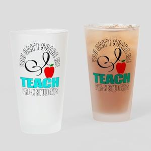 Pre-k teacher Drinking Glass