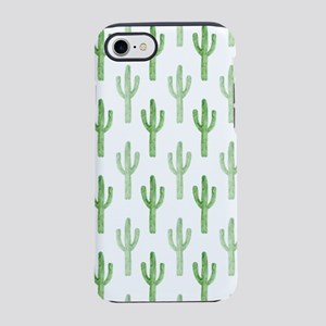Cute Watercolor Cactus Pattern iPhone 8/7 Tough Ca