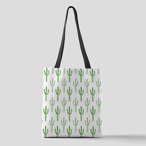 Cute Watercolor Cactus Pattern Polyester Tote Bag