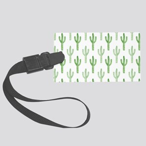 Cute Watercolor Cactus Pattern Luggage Tag