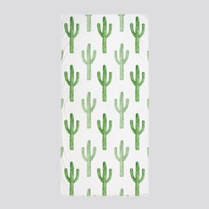 Cute Watercolor Cactus Pattern Beach Towel
