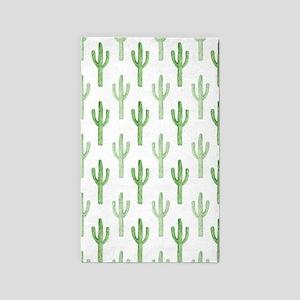 Cute Watercolor Cactus Pattern Area Rug