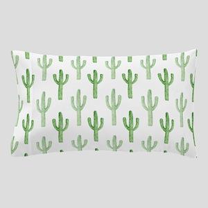 Cute Watercolor Cactus Pattern Pillow Case