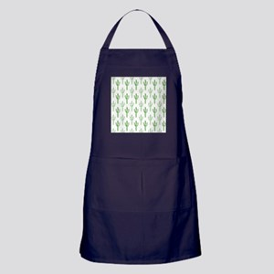 Cute Watercolor Cactus Pattern Apron (dark)