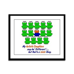 Different FROGS 1 (Daughters) Framed Panel Print