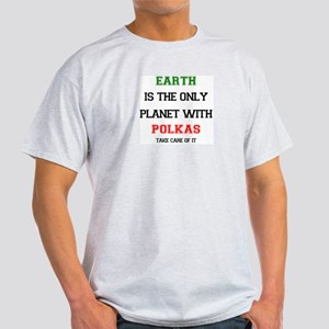 earth has polkas White T-Shirt