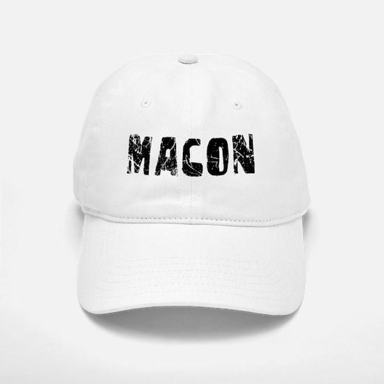 Macon Faded (Black) Baseball Baseball Cap