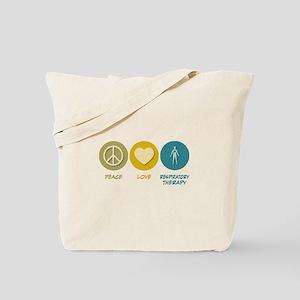 Peace Love Respiratory Therapy Tote Bag