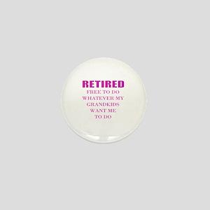 retired teacher Mini Button