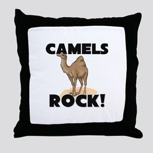 Camels Rock! Throw Pillow