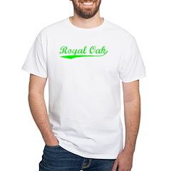 Vintage Royal Oak (Green) White T-Shirt