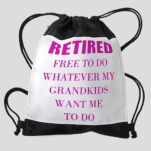 retired teacher Drawstring Bag