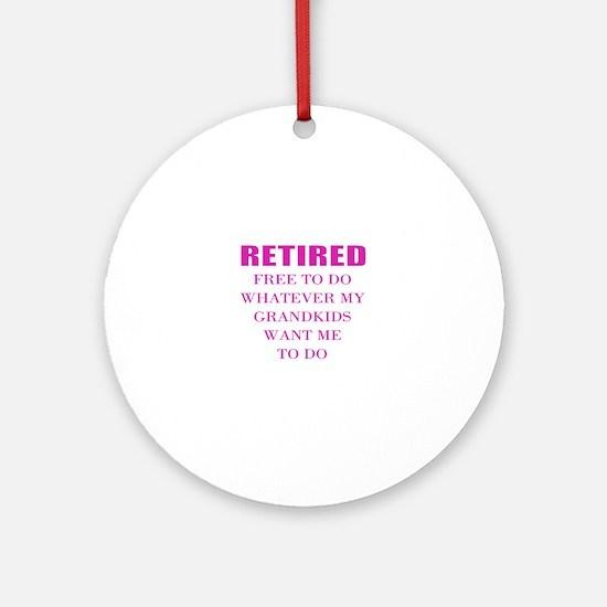 retired teacher Round Ornament