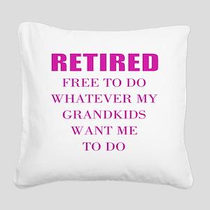 retired teacher Square Canvas Pillow