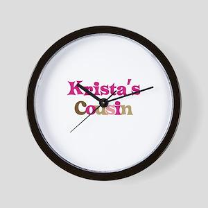 Krista's Cousin Wall Clock