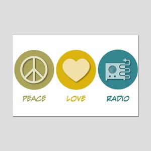 Peace Love Radio Mini Poster Print