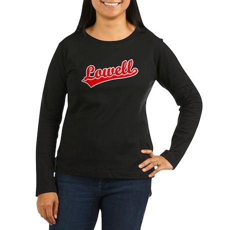 Retro Lowell (Red) Women's Long Sleeve Dark T-Shir