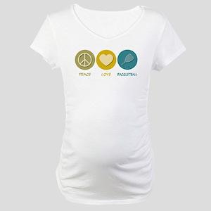 Peace Love Racquetball Maternity T-Shirt