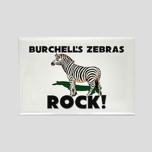 Burchell's Zebras Rock! Rectangle Magnet