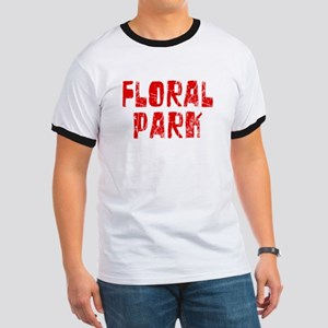 Floral Park Faded (Red) Ringer T