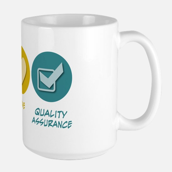 Peace Love Quality Assurance Large Mug