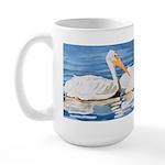 White Pelicans Large Mug