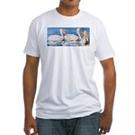 White Pelicans Fitted T-Shirt