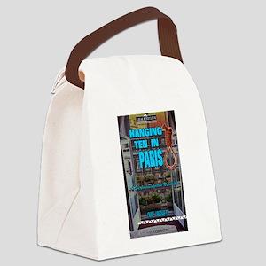 Hanging Ten in Paris Canvas Lunch Bag
