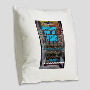 Hanging Ten in Paris Burlap Throw Pillow