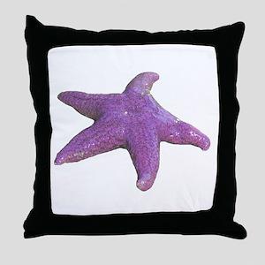 purple starfish Throw Pillow