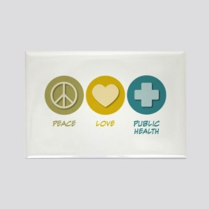 Peace Love Public Health Rectangle Magnet