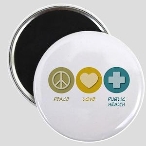 Peace Love Public Health Magnet