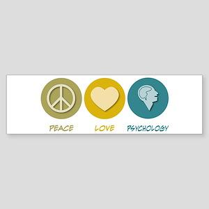 Peace Love Psychology Bumper Sticker