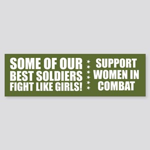 FIGHT LIKE GIRLS! Bumper Sticker