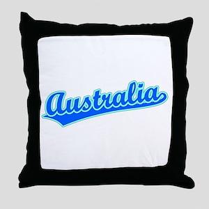 Retro Australia (Blue) Throw Pillow