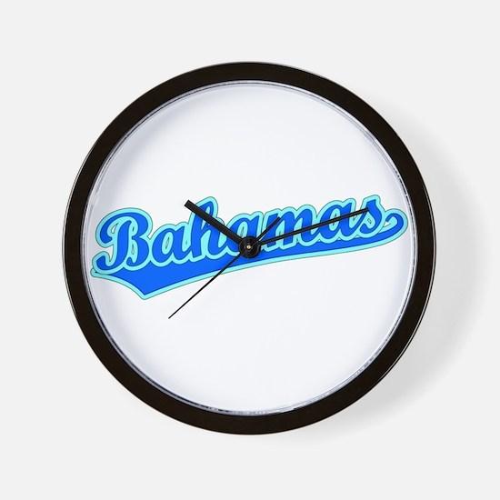 Retro Bahamas (Blue) Wall Clock