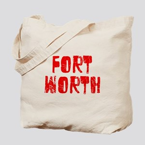 Fort Worth Faded (Red) Tote Bag