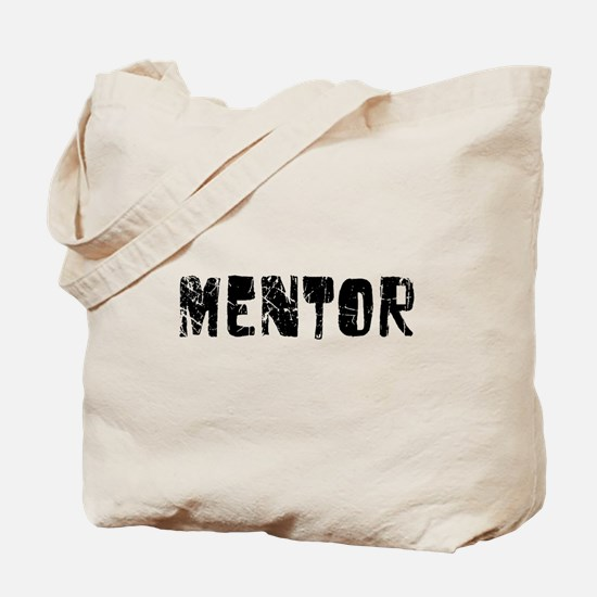 Mentor Faded (Black) Tote Bag