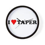 I Heart Taper Wall Clock