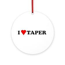I Heart Taper Ornament (Round)