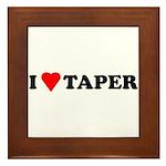 I Heart Taper Framed Tile