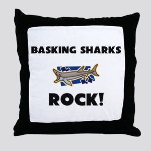 Basking Sharks Rock! Throw Pillow