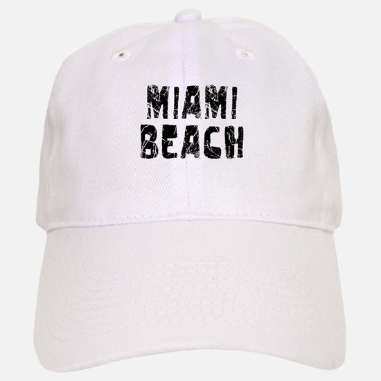 Miami Beach Faded (Black) Baseball Baseball Cap