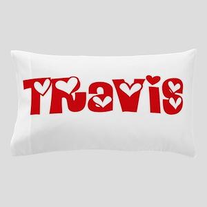 Travis Surname Heart Design Pillow Case