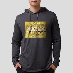 NOLA Elegant Black and Gold Eg Long Sleeve T-Shirt