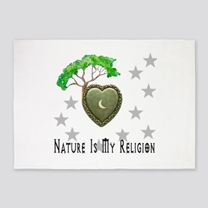 Nature Is My Religion 5'x7'Area Rug
