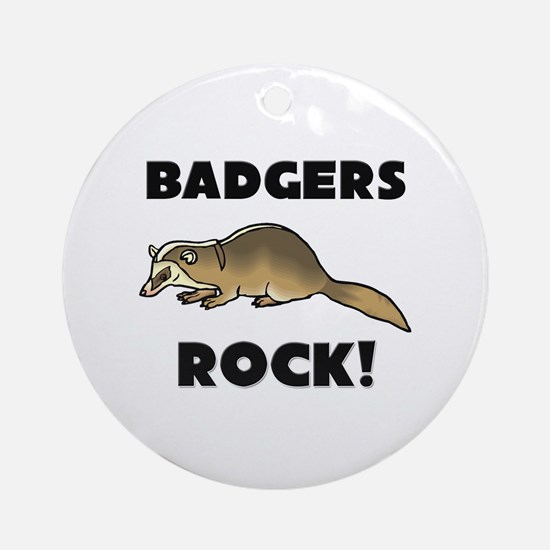 Badgers Rock! Ornament (Round)