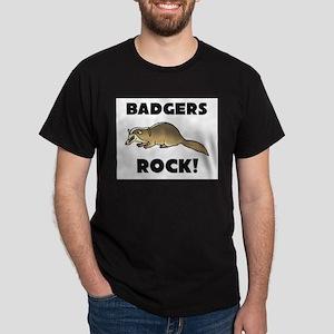 Badgers Rock! Dark T-Shirt